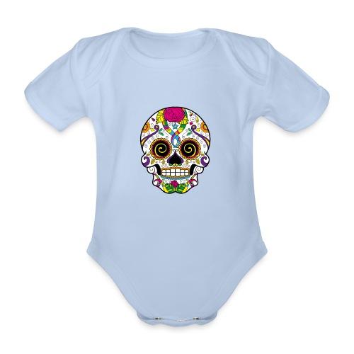 skull3 - Body ecologico per neonato a manica corta