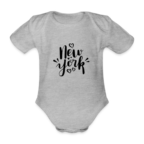 New York - Baby Bio-Kurzarm-Body