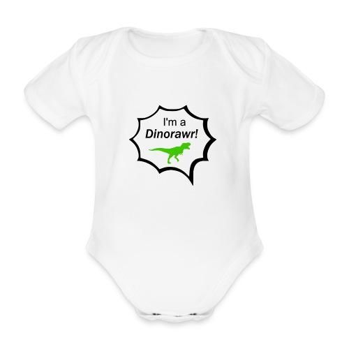 I¨m a dinorawr - Ekologisk kortärmad babybody