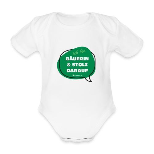 Bäuerin und stolz darauf - Baby Bio-Kurzarm-Body