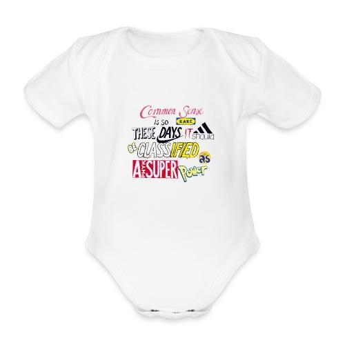 PHYK-logoja - Vauvan lyhythihainen luomu-body