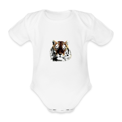 El poderoso tigre. - Body orgánico de manga corta para bebé