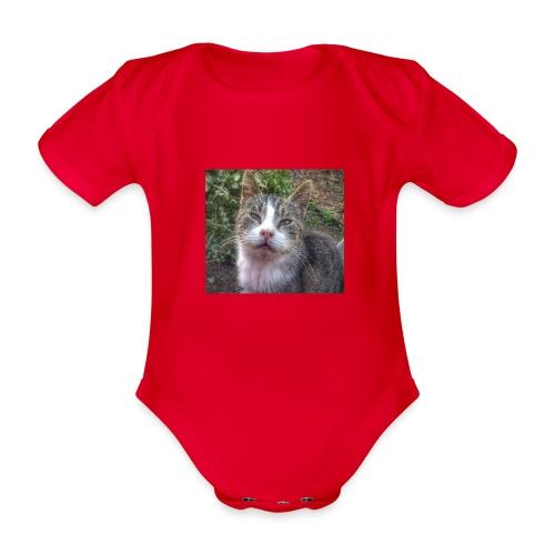 Katze Max - Baby Bio-Kurzarm-Body