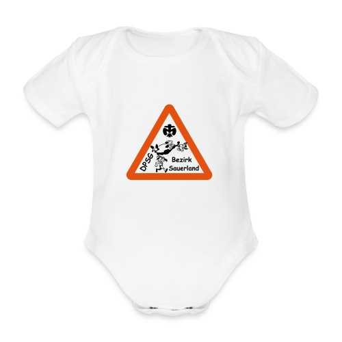 Logo Bezirk Sauerland mit Rahmen - Baby Bio-Kurzarm-Body