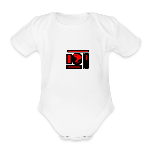 black and red hot P - Baby Bio-Kurzarm-Body