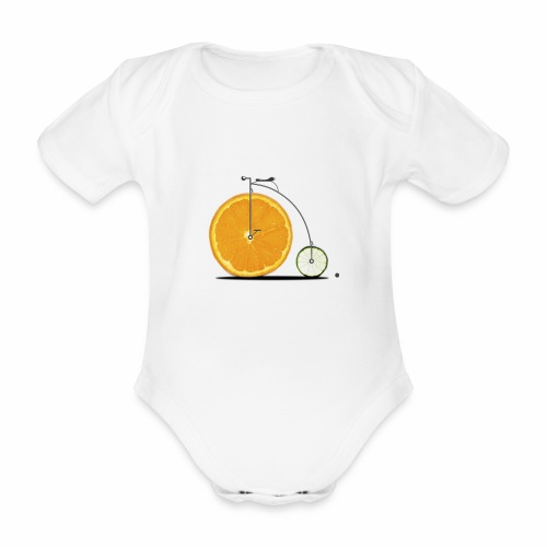 Fruit Bicycle - Organic Short-sleeved Baby Bodysuit
