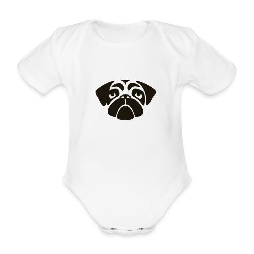 Mops - Baby Bio-Kurzarm-Body