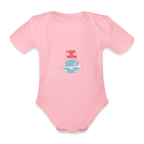 I Love To Travel - Body ecologico per neonato a manica corta
