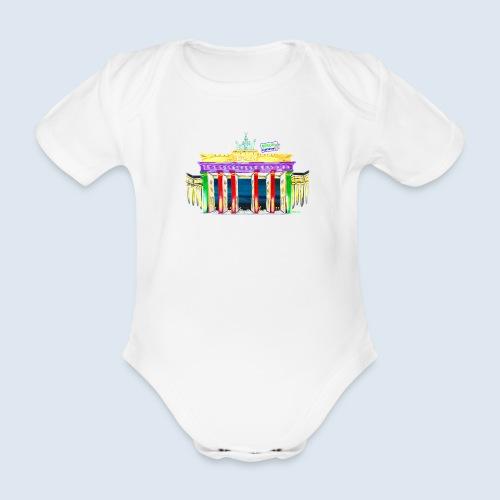 Brandenburger Tor Berlin PopArt ickeshop BachBilde - Baby Bio-Kurzarm-Body