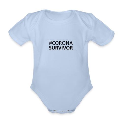 corona virus survivor - Organic Short-sleeved Baby Bodysuit