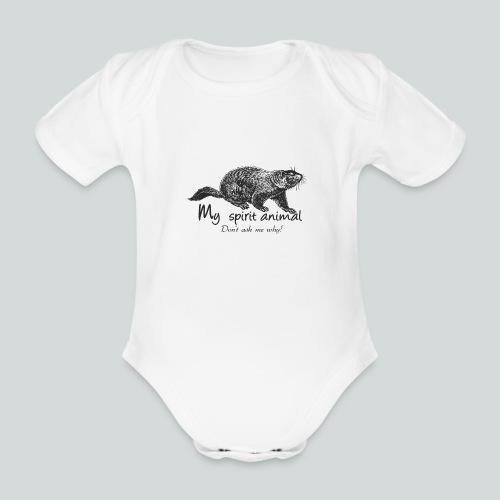 La marmotte est mon animal totem - Body Bébé bio manches courtes