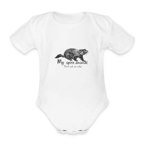 The marmot is my totem animal - Organic Short-sleeved Baby Bodysuit
