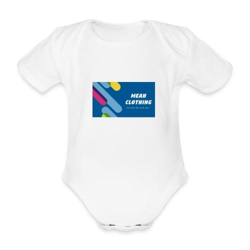 MEAH CLOTHING LOGO - Organic Short-sleeved Baby Bodysuit