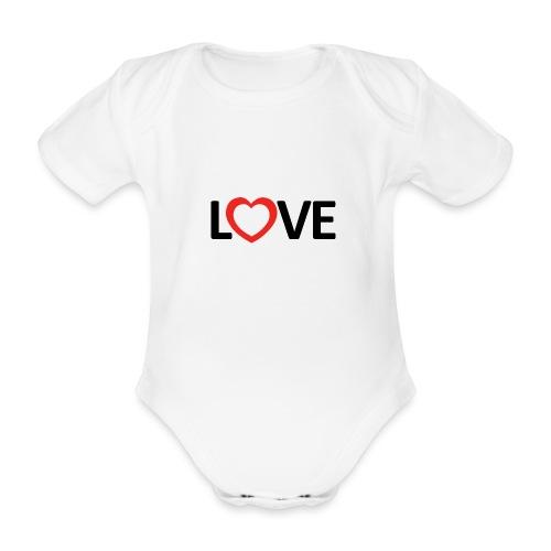 Love - Body orgánico de manga corta para bebé