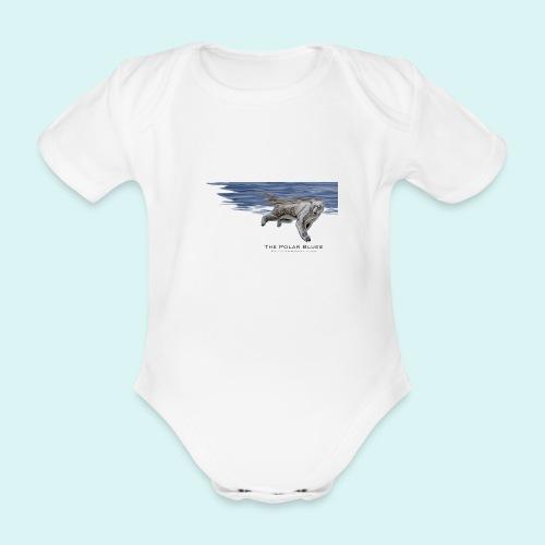 Polar-Blues-SpSh - Organic Short-sleeved Baby Bodysuit