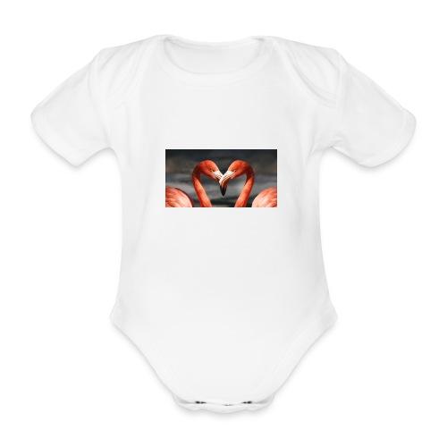 flamingo - Baby Bio-Kurzarm-Body