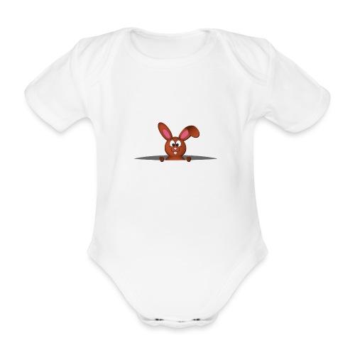 Cute bunny in the pocket - Body ecologico per neonato a manica corta