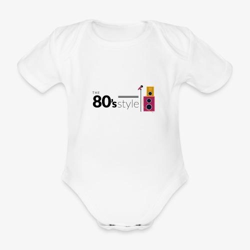80s - Body orgánico de maga corta para bebé