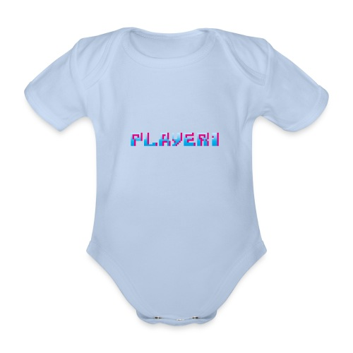 Arcade Game - Player 1 - Organic Short-sleeved Baby Bodysuit