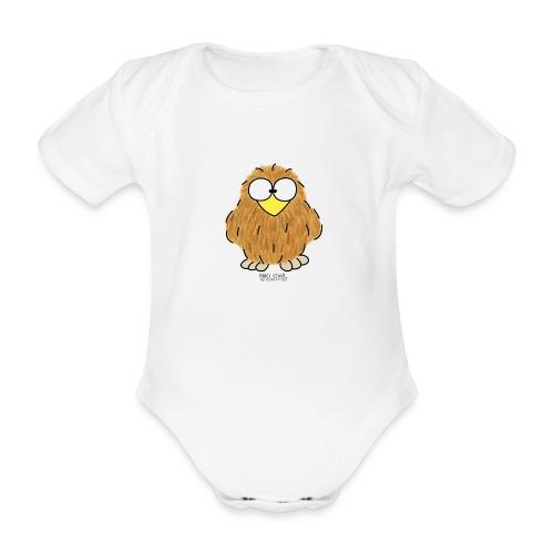 Niki Owl - Organic Short-sleeved Baby Bodysuit