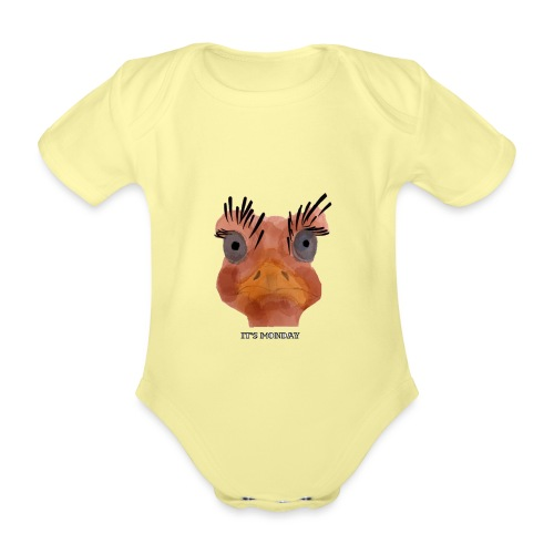 Srauss, again Monday, English writing - Organic Short-sleeved Baby Bodysuit