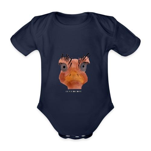 Srauss, again Monday, English writing - Organic Short-sleeved Baby Bodysuit