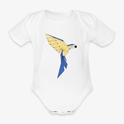 Papagei geometrisch - Baby Bio-Kurzarm-Body