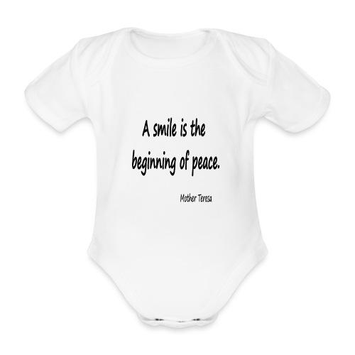 1 05 2 - Organic Short-sleeved Baby Bodysuit