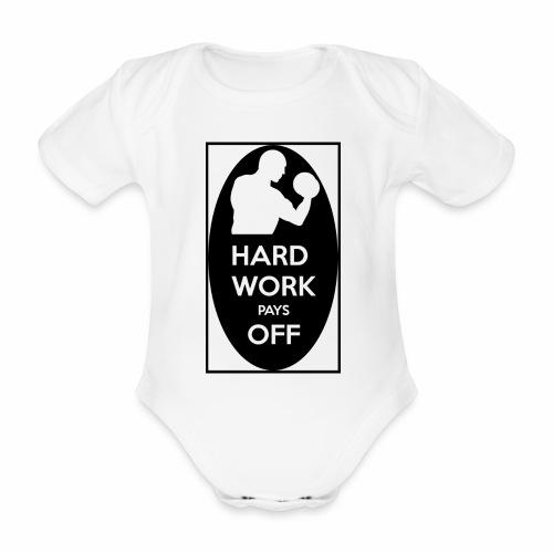 hard work pays off 2 cup.jpg - Organic Short-sleeved Baby Bodysuit