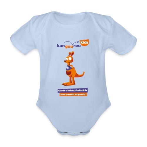 logo kangourou baseline png - Body Bébé bio manches courtes