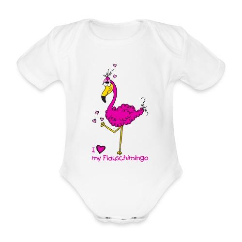 I love my Flauschimingo - Baby Bio-Kurzarm-Body