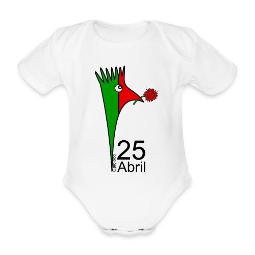 Galoloco - 25 Abril - Body Bébé bio manches courtes
