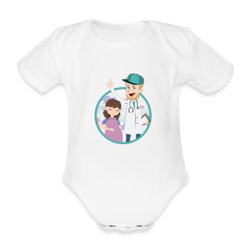 Richtig Schwanger Logo - Baby Bio-Kurzarm-Body