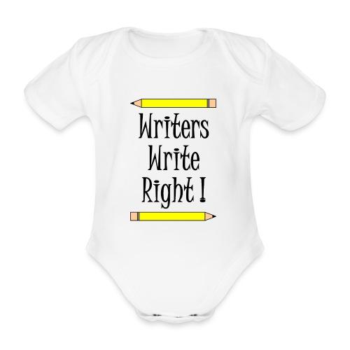 Writers Write Right - Organic Short-sleeved Baby Bodysuit