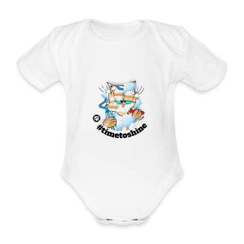 #timetoshine - Baby Bio-Kurzarm-Body