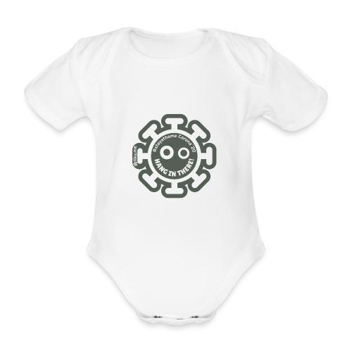 Corona Virus #stayathome grigio - Body ecologico per neonato a manica corta