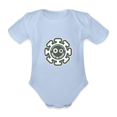 Corona Virus #stayathome gray - Organic Short-sleeved Baby Bodysuit