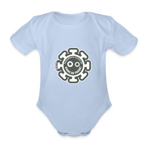 Corona Virus #stayathome grey - Body orgánico de manga corta para bebé