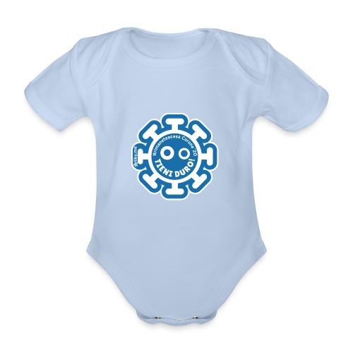 Corona Virus #rimaneteacasa azzurro - Body orgánico de manga corta para bebé