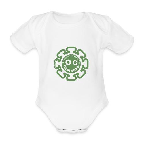 Corona Virus #rimaneteacasa verde - Body orgánico de manga corta para bebé