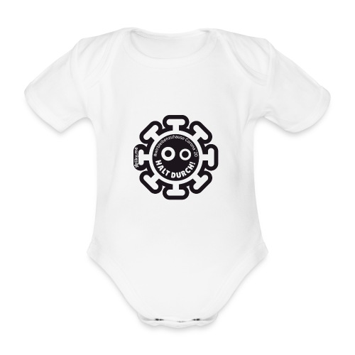 Corona Virus #WirBleibenZuhause schwarz - Body orgánico de manga corta para bebé