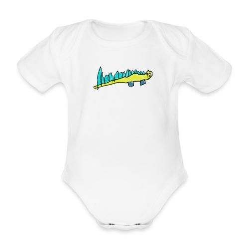 crocodile 2 png - Organic Short-sleeved Baby Bodysuit