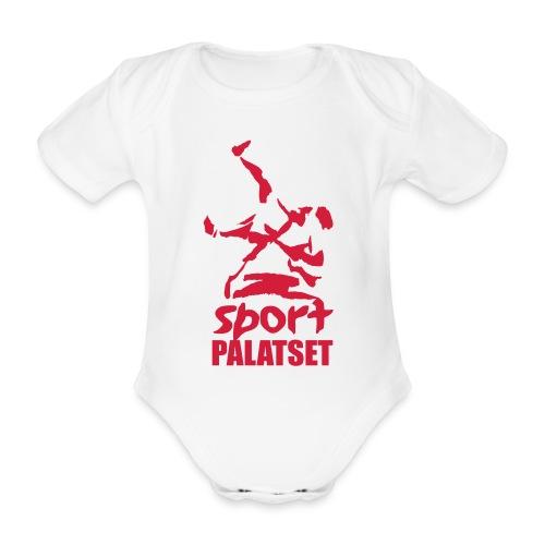 Motiv med röd logga - Ekologisk kortärmad babybody