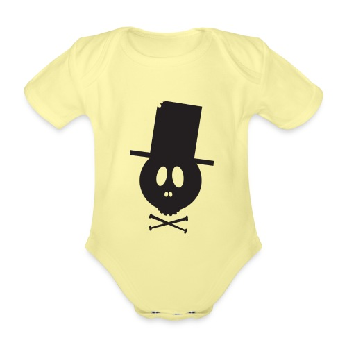 Bonehead Black Shirt Woman - Baby Bio-Kurzarm-Body