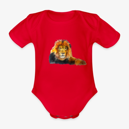 Lion - Organic Short-sleeved Baby Bodysuit