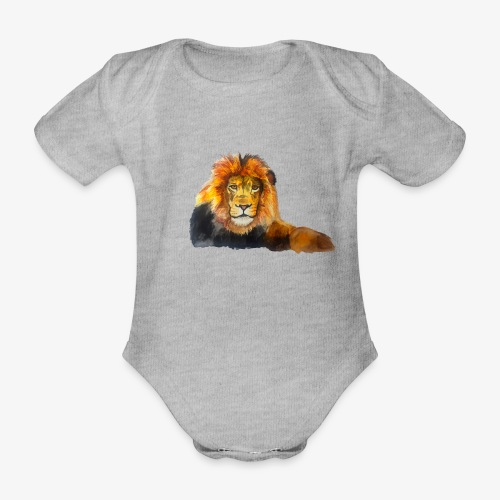 Lion - Organic Short-sleeved Baby Bodysuit