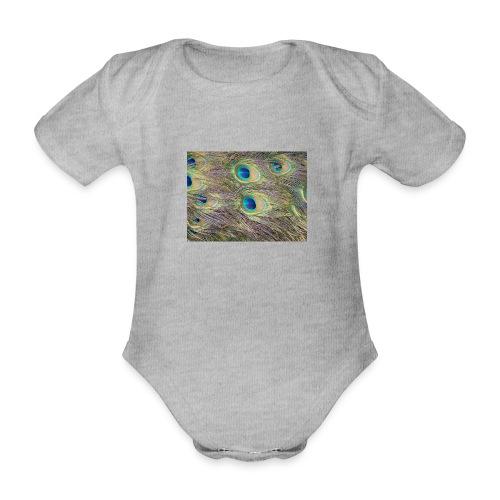 Peacock feathers - Vauvan lyhythihainen luomu-body