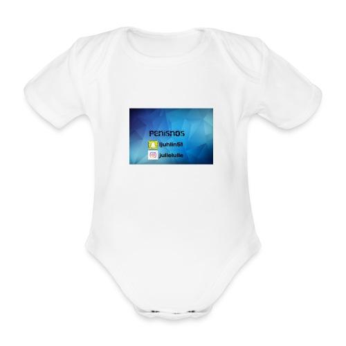 Penisnos merch med snap och ig - Ekologisk kortärmad babybody