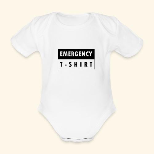 Emergency t-shirt - Organic Short-sleeved Baby Bodysuit