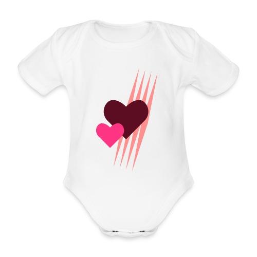 Teddy.Kidswear. – Hearts - Baby Bio-Kurzarm-Body